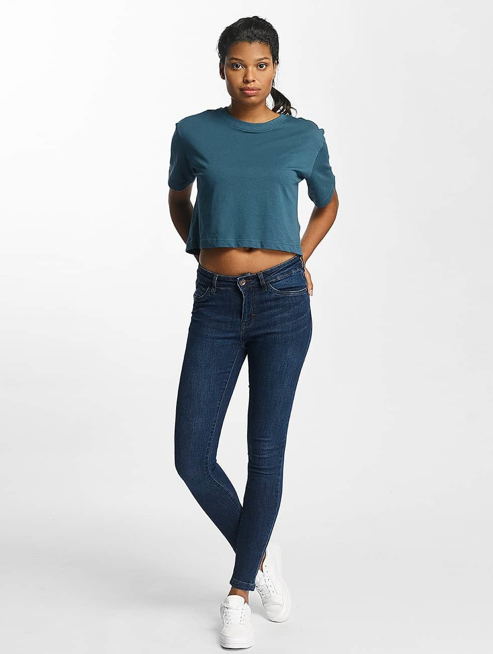Urban Classics Tynne bukser Skinny Denim blå