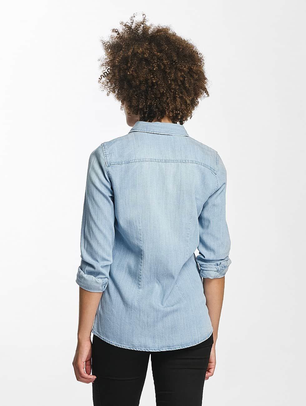 Vero Moda Bluse vmViola Embroidery blau