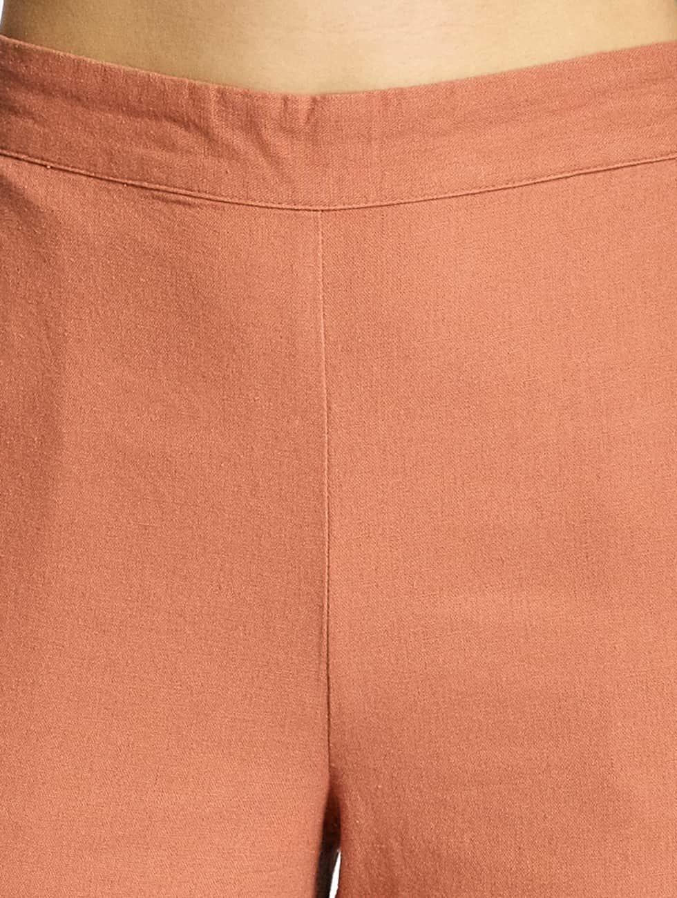 Vero Moda Chinot/Kangashousut VMMilo-Citrus ruskea