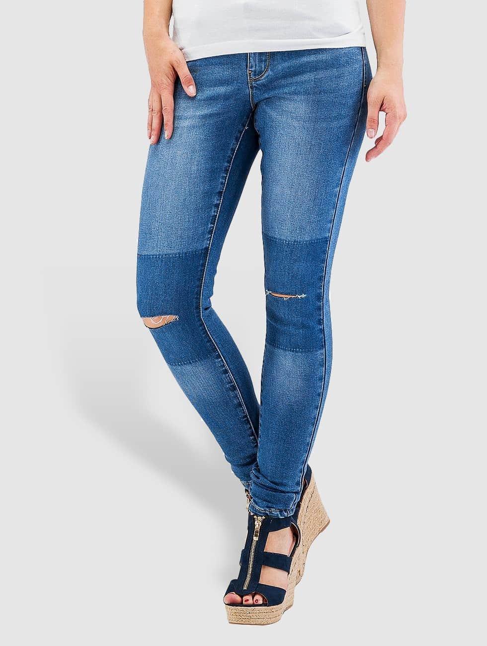Vero Moda Skinny Jeans vmFive blau