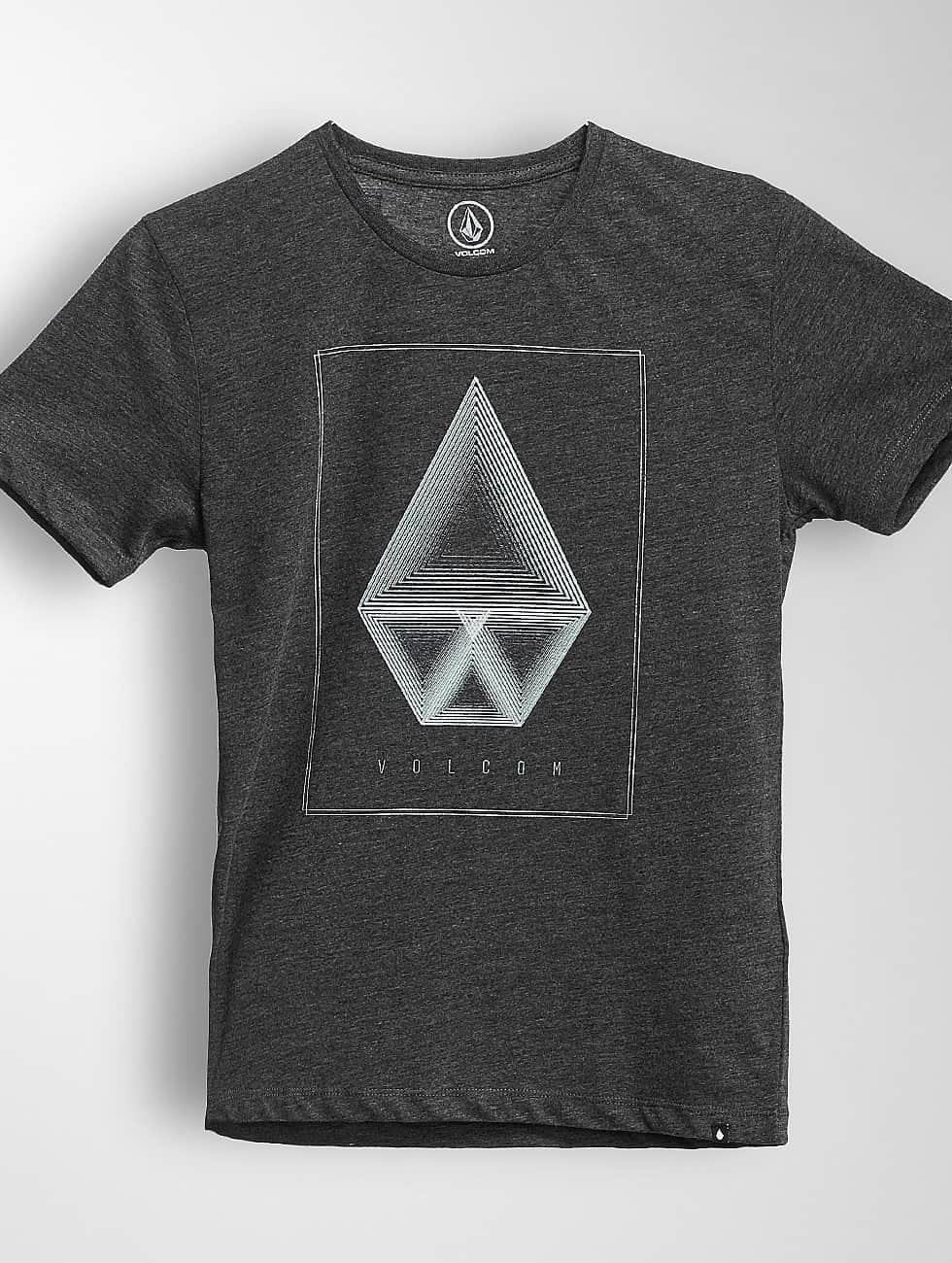 Volcom T-Shirt Concentric Hth noir