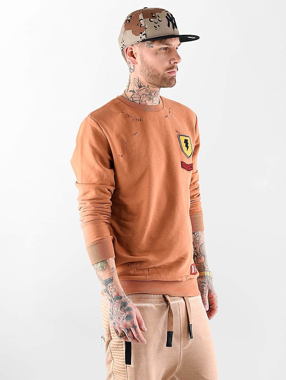 VSCT Clubwear Jumper Customized Patch Crew orange