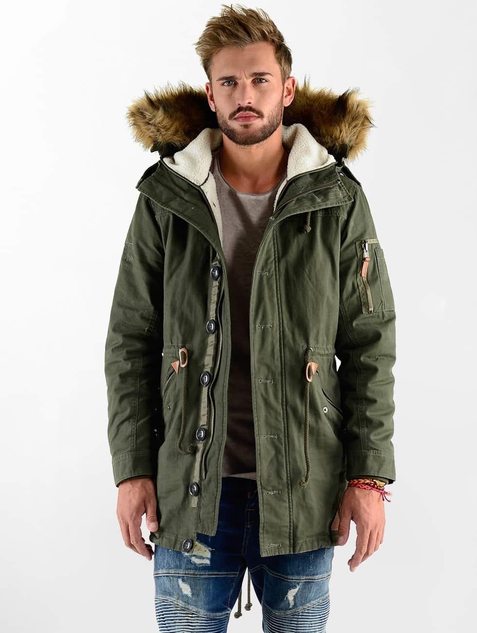 VSCT Clubwear Kurtki zimowe Luxury Parka oliwkowy