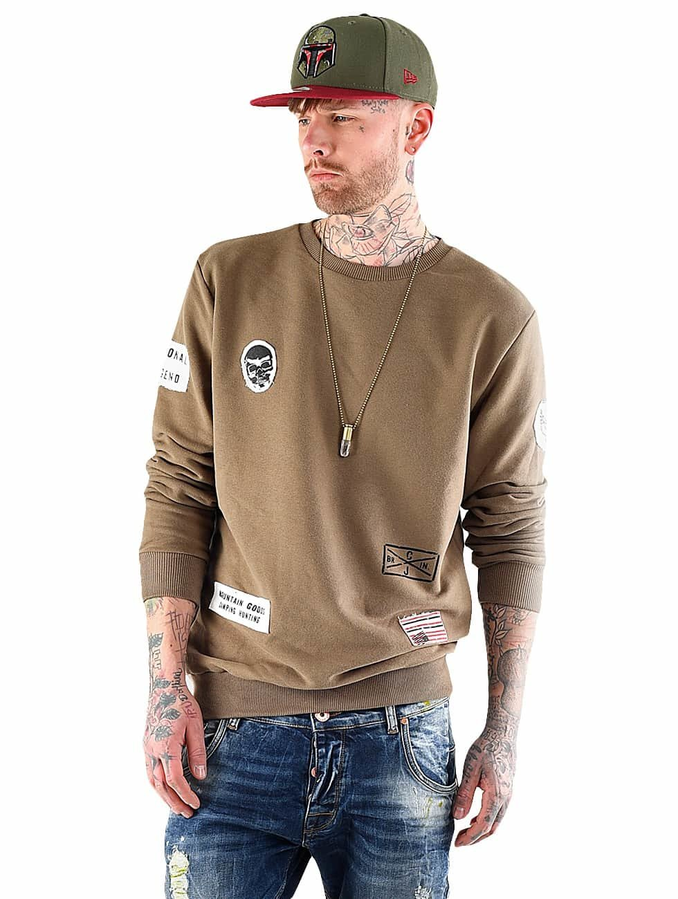 VSCT Clubwear Pullover Customized Patch Crew khaki