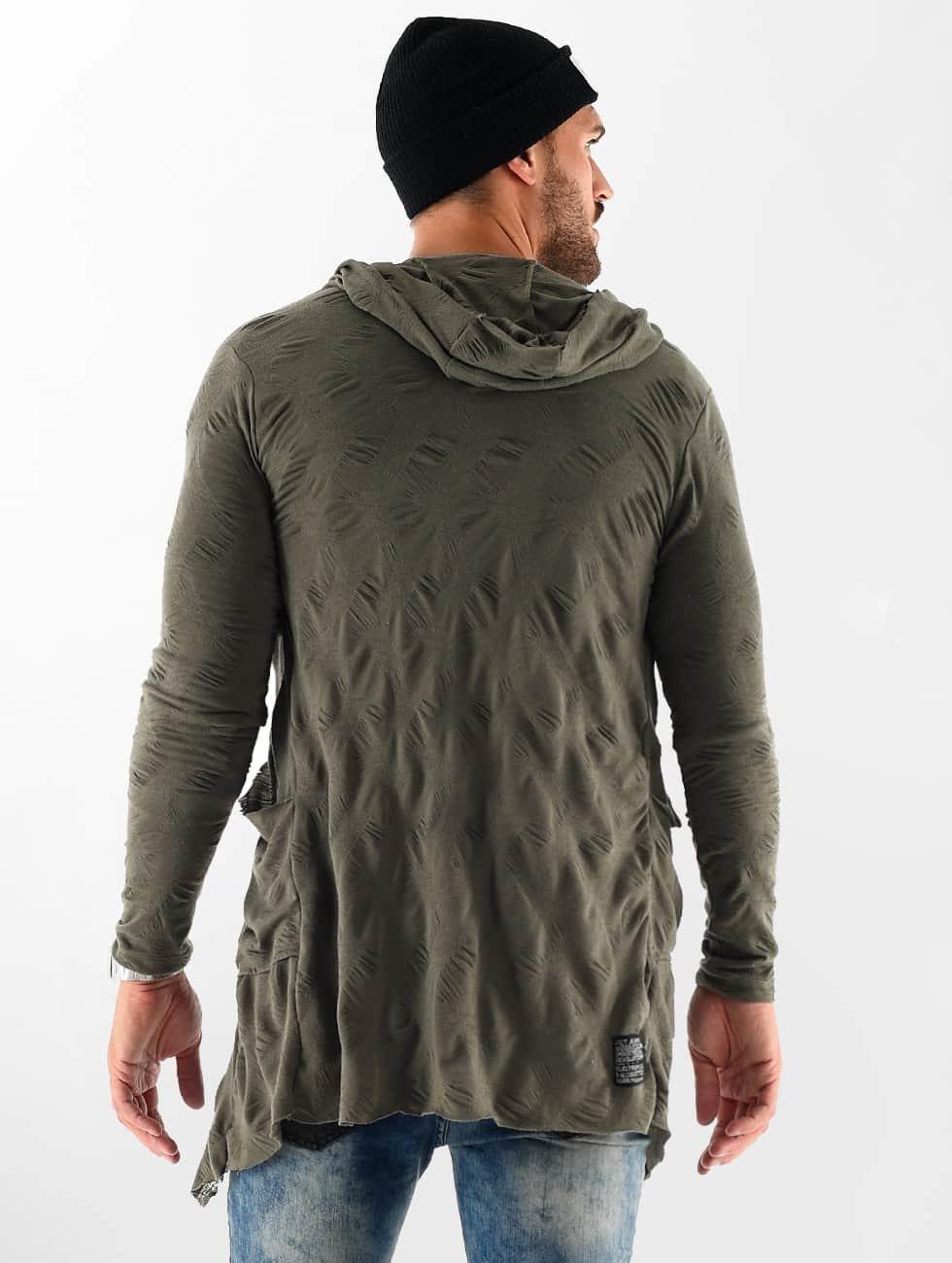 VSCT Clubwear Swetry rozpinane Wave khaki