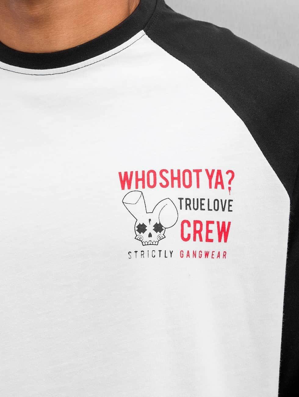 Who Shot Ya? Longsleeve True Love Crew zwart