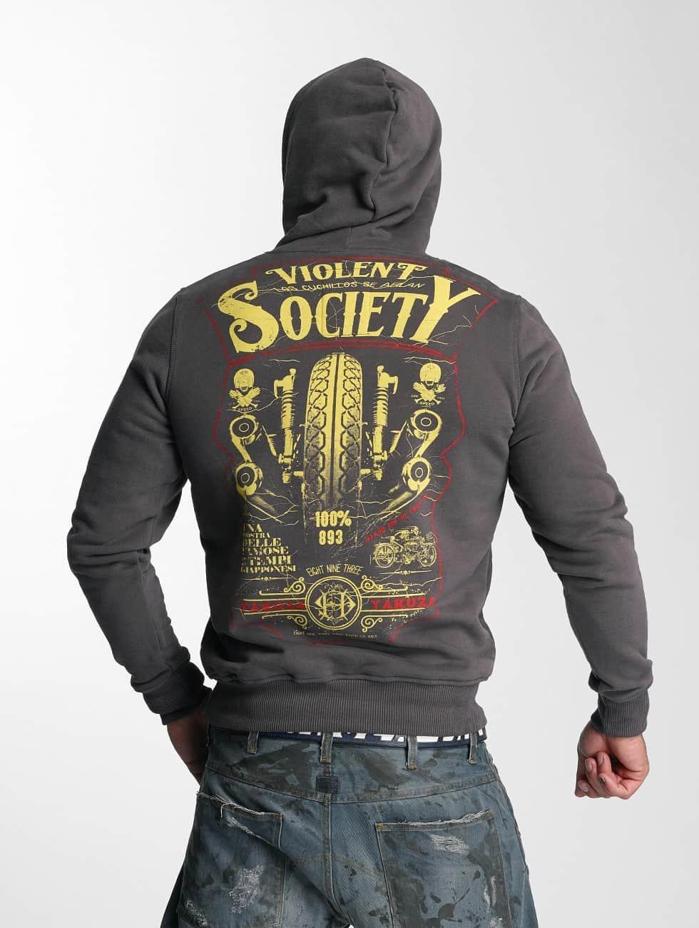 Yakuza Hoody Violent Society grau