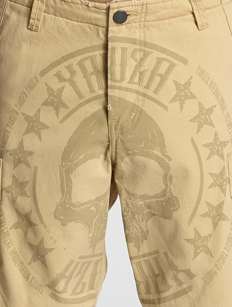 Yakuza Szorty Skull Label bezowy