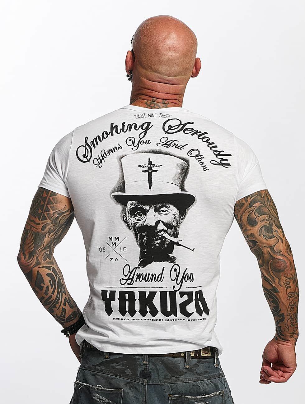 Yakuza T-Shirt Smoking Seriously weiß