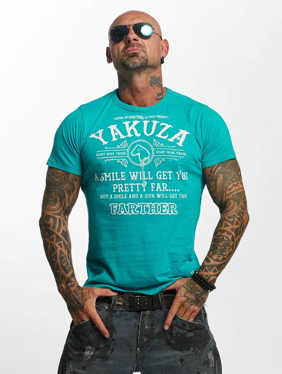Yakuza T-Shirty Farther turkusowy