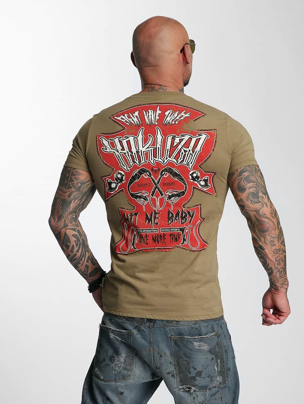 Yakuza T-Shirty Hit Me zielony