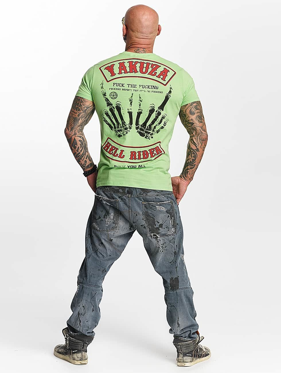 Yakuza T-Shirty Hell Rider zielony