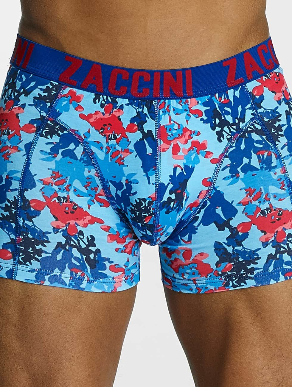 Zaccini Boxershorts Painted Spring blau