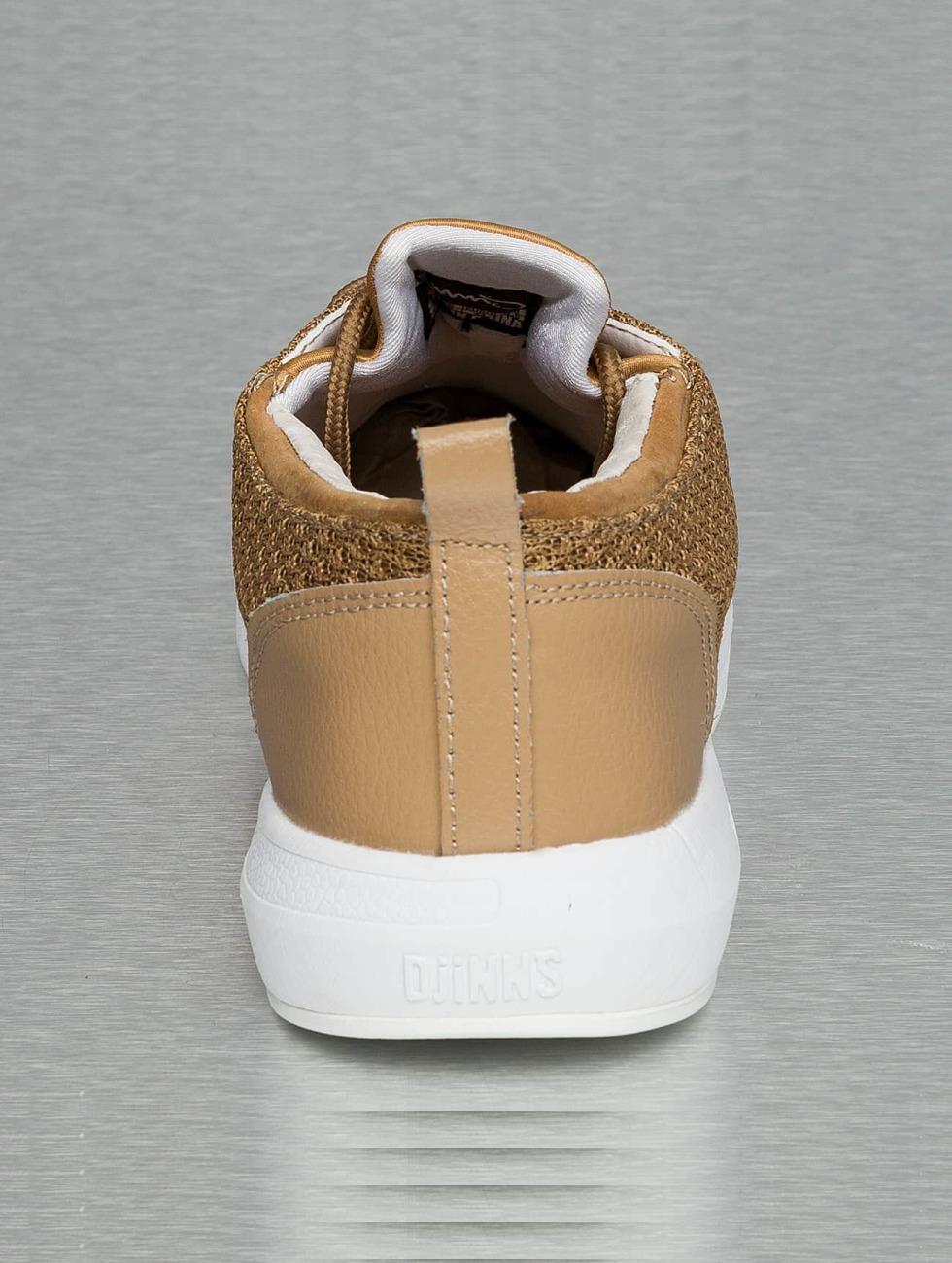 Djinns Sneakers Lau Run Mesh & Skin beige