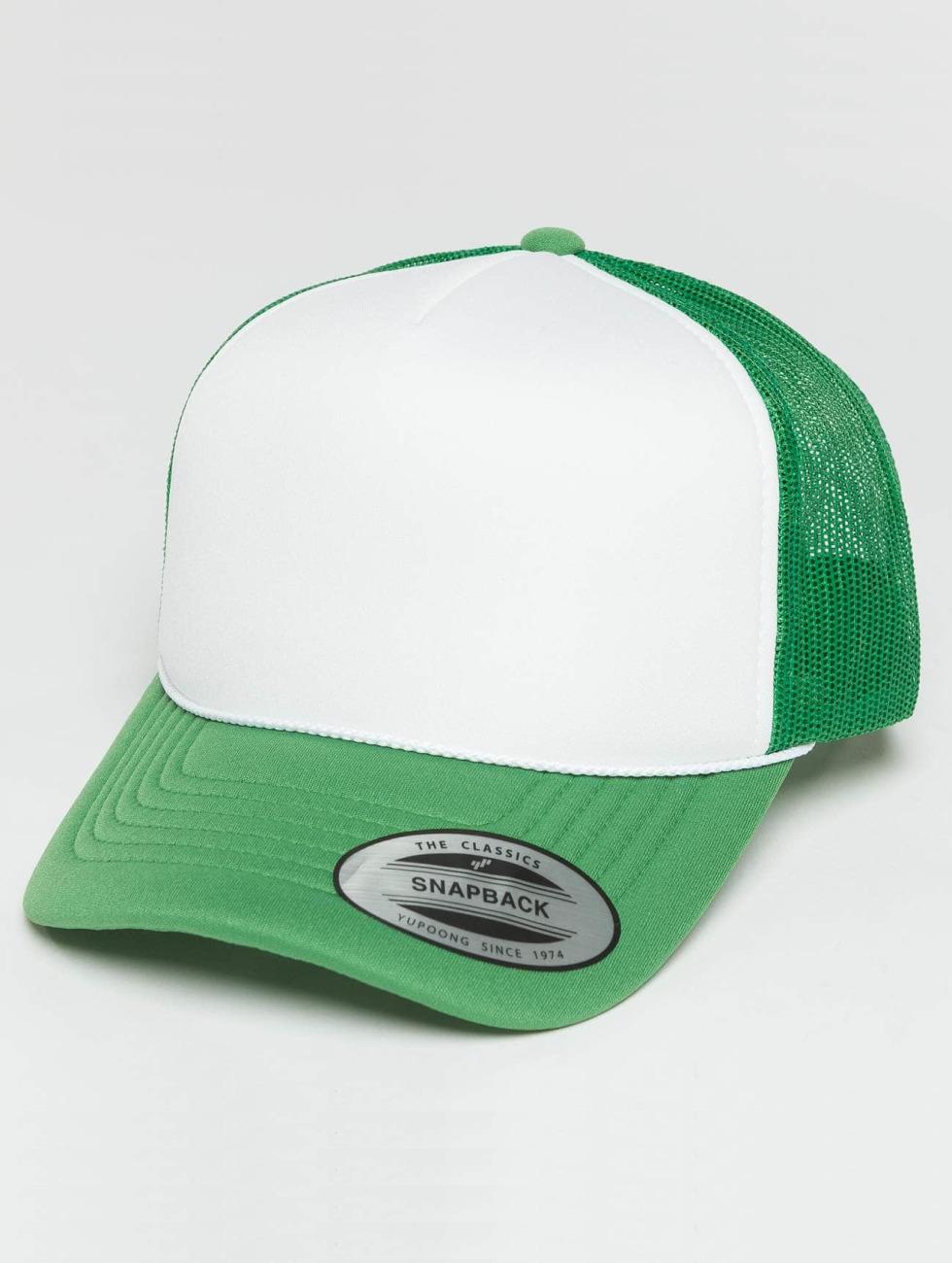 Flexfit Trucker Caps Curved Visor Foam grøn