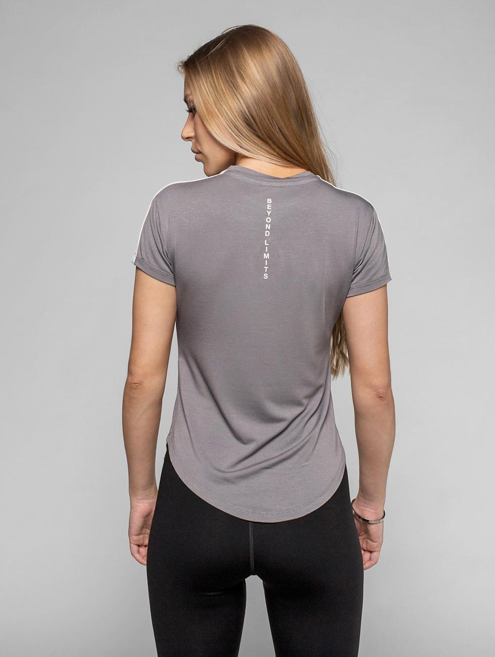 Beyond Limits T-shirt Statement grigio