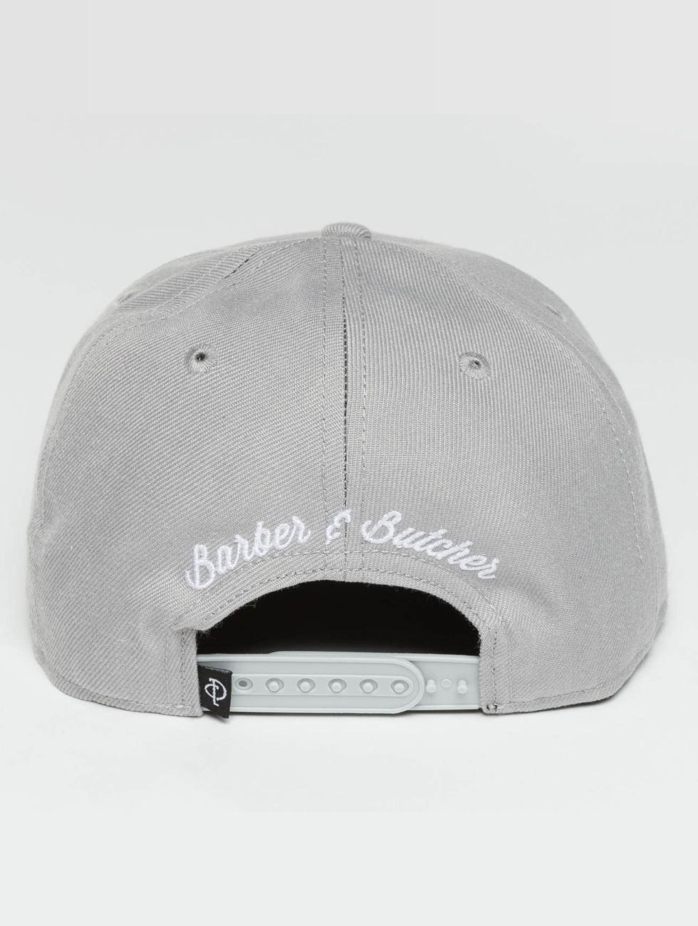 Distorted People Snapback Caps Barber & Butcher grå