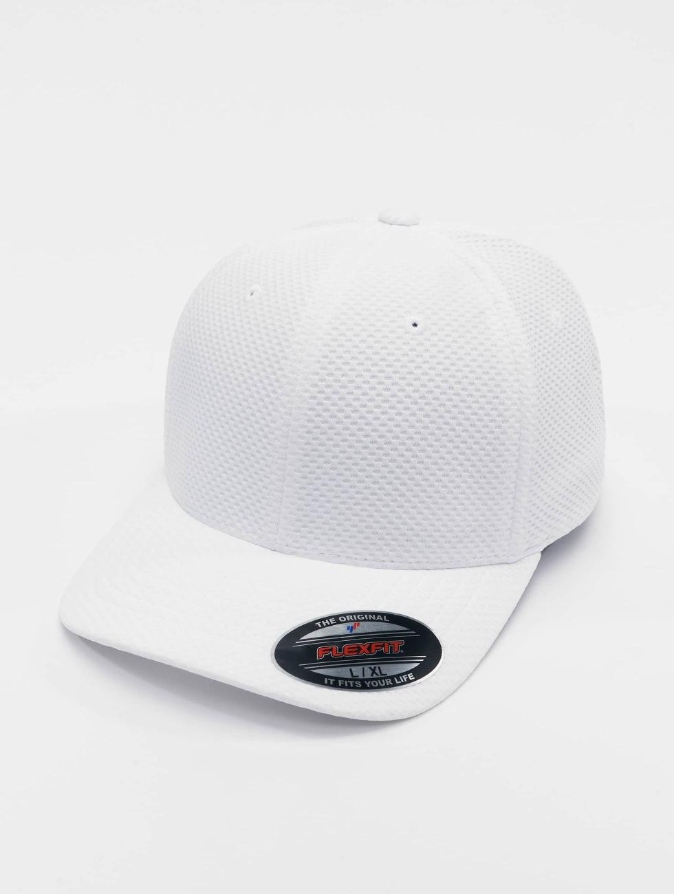 Flexfit Flexfitted Cap 3D Hexagon hvid