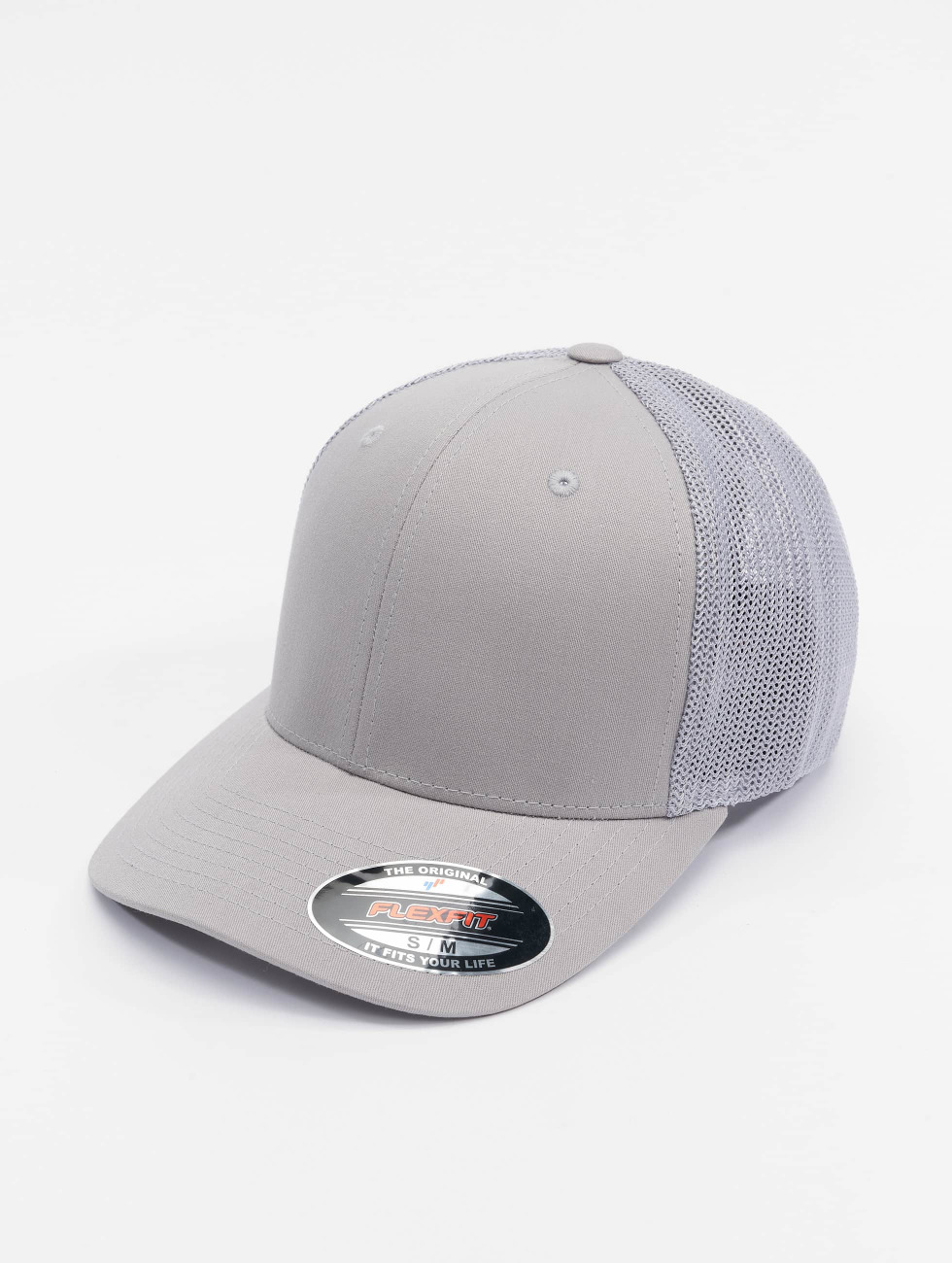 Flexfit Lastebilsjåfør- / flexfitted caps Mesh Cotton Twill sølv