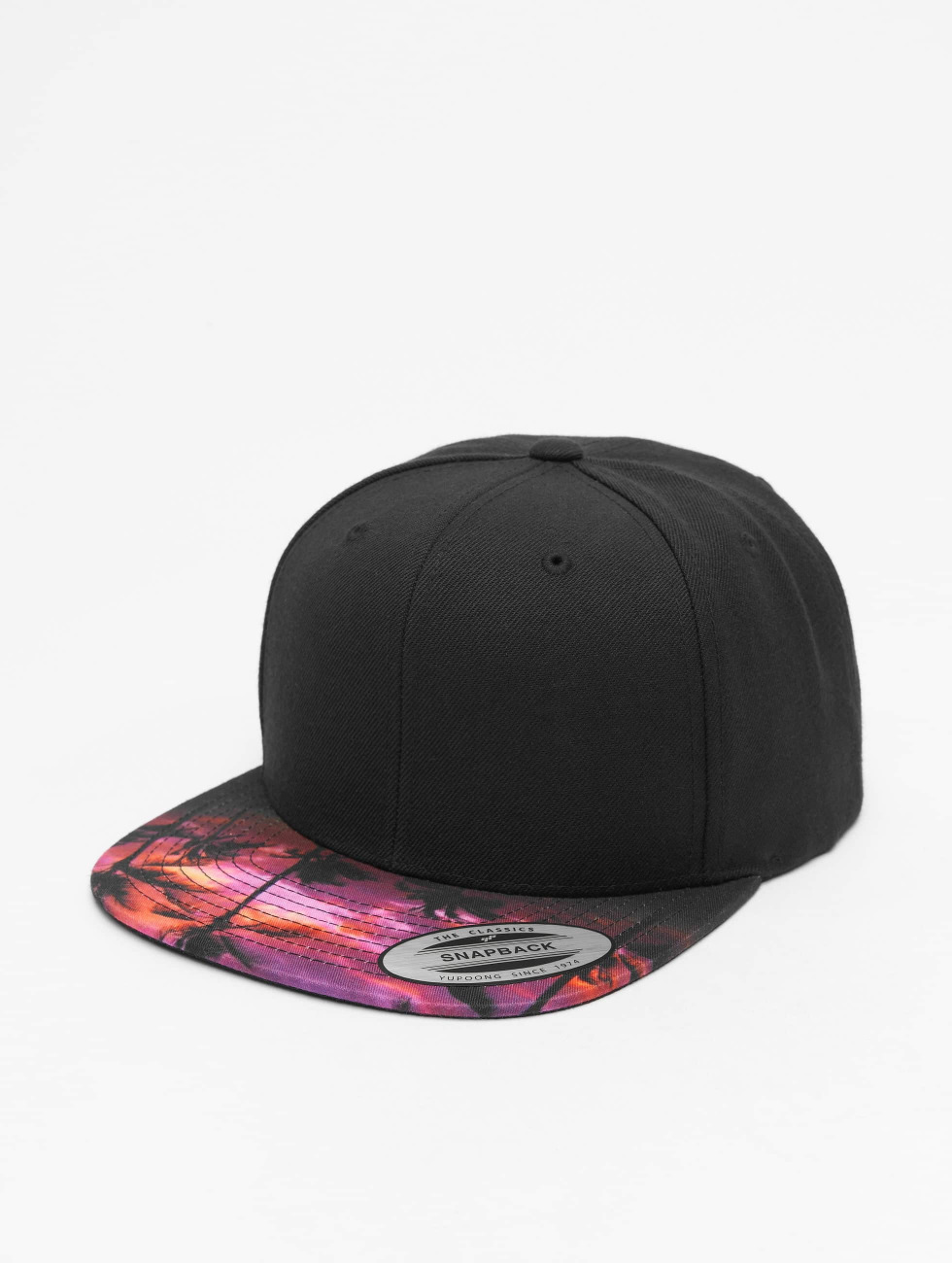 Flexfit Snapback Cap Sunset Peak schwarz