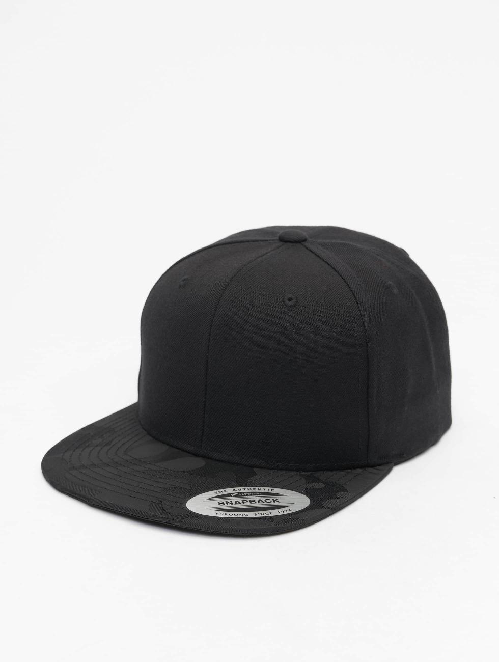 Flexfit Snapback Cap Camo Visor schwarz