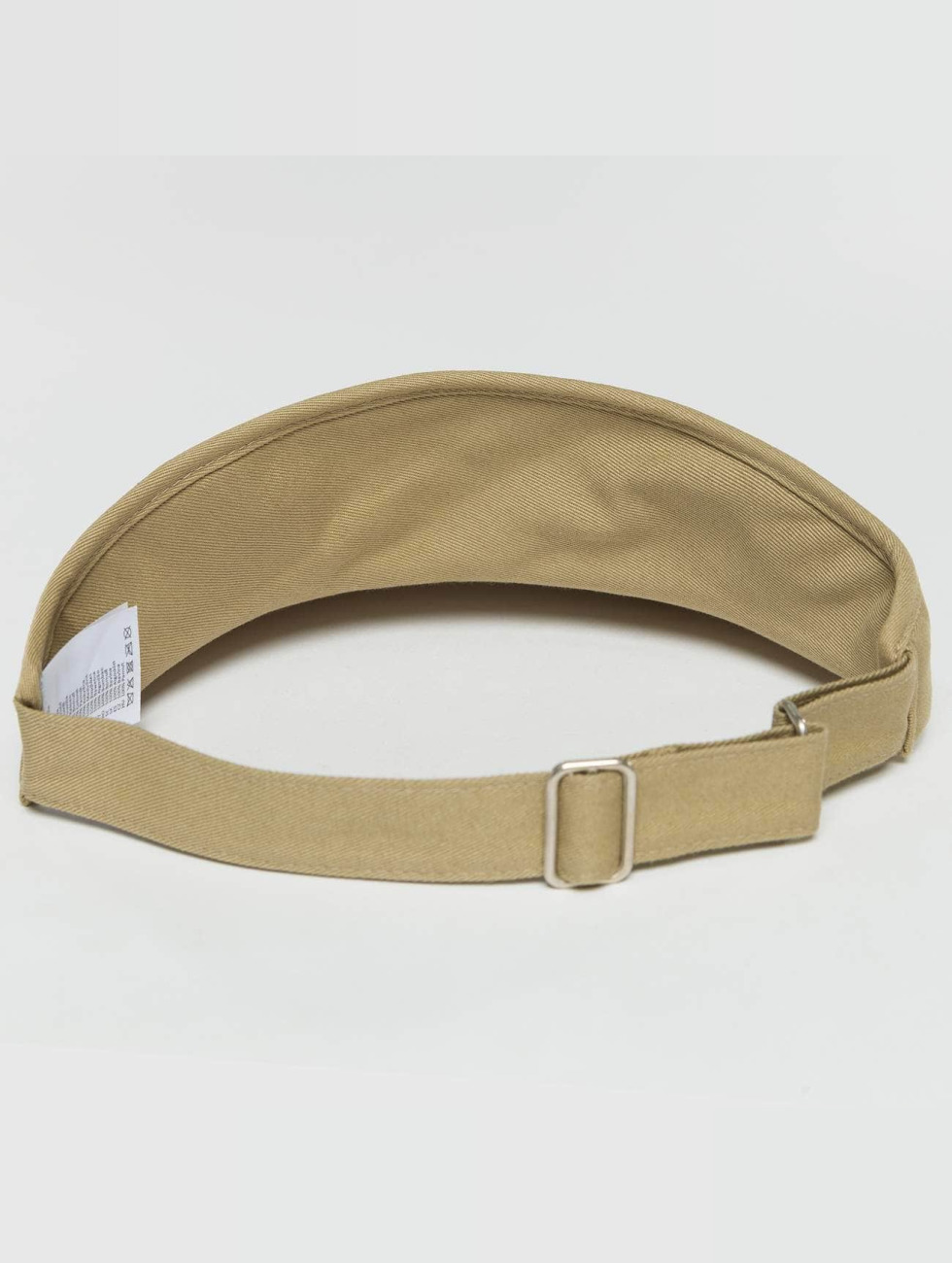 Flexfit Snapback Caps Flat Round Visor khaki