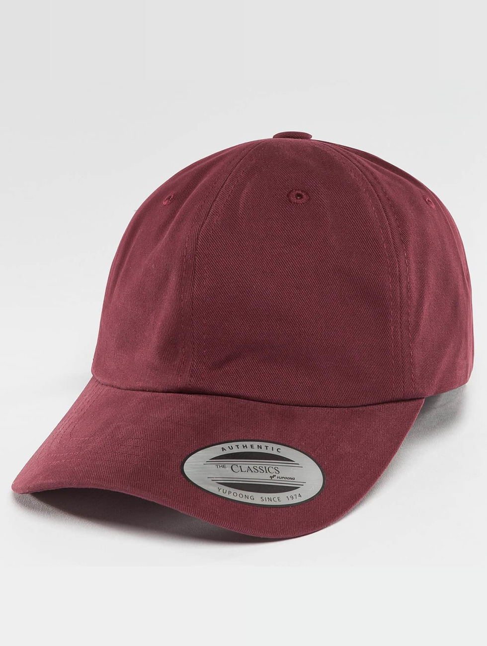 Flexfit Snapback Caps Peached Cotton Twill Dad red