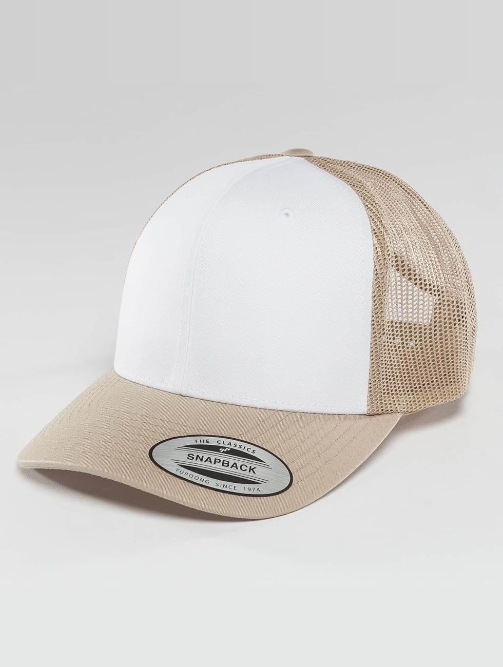 Flexfit Trucker Cap Retro Colored Front beige