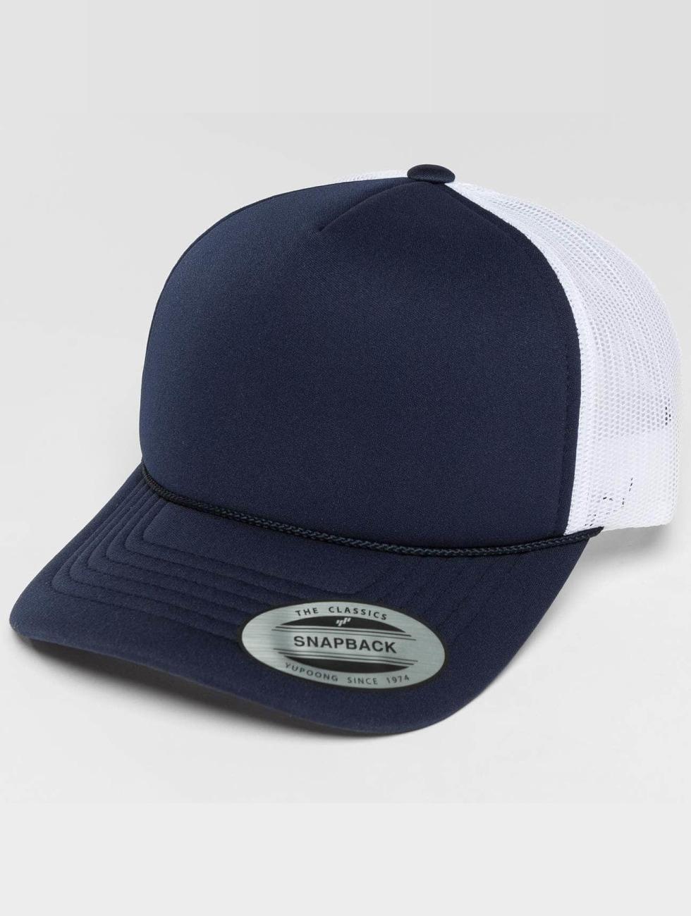 Flexfit Trucker Cap Curved Visor Foam blue