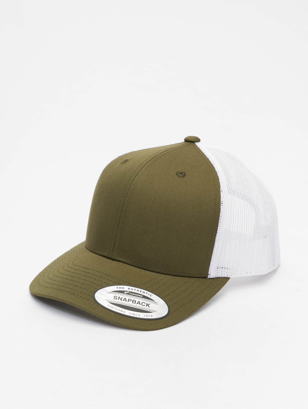 Flexfit trucker cap Retro Two Tone olijfgroen