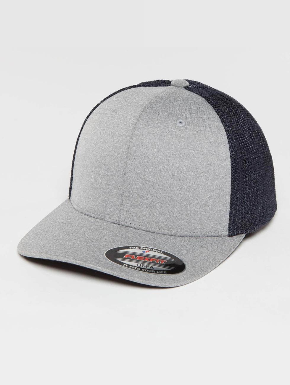 Flexfit Trucker Caps Melange grå