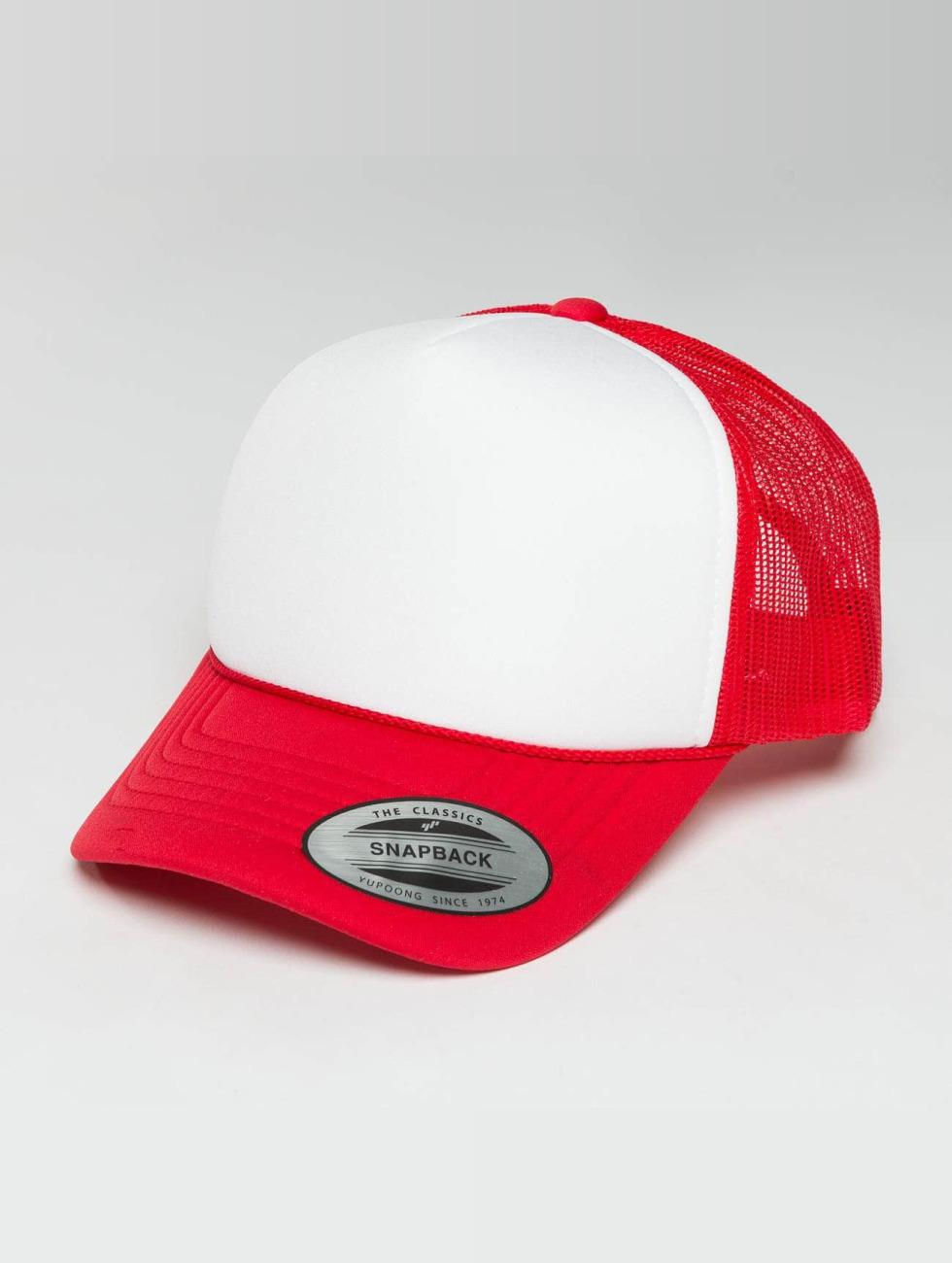 Flexfit Trucker Caps Curved Visor Foam rød