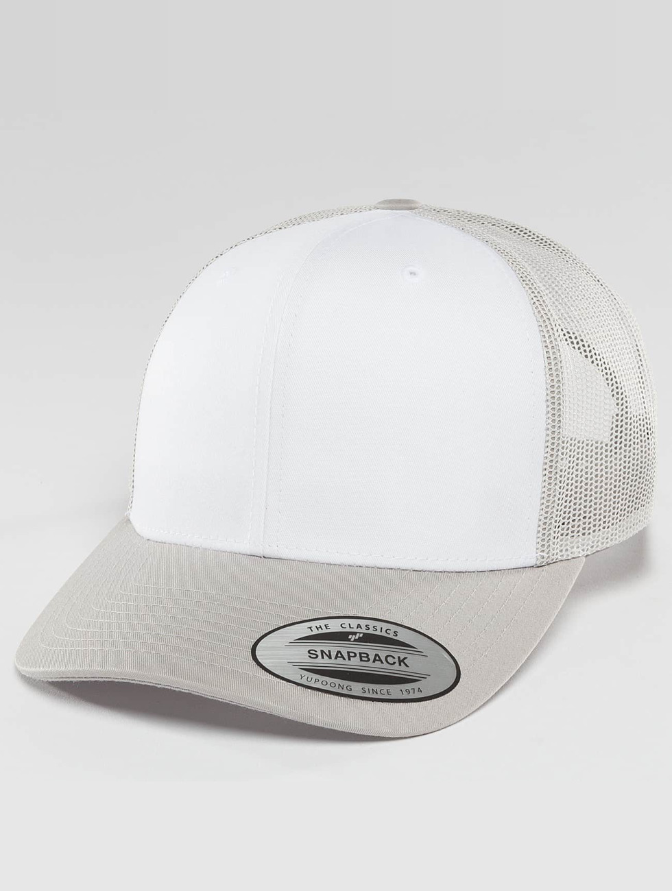 Flexfit Trucker Caps Retro sølv