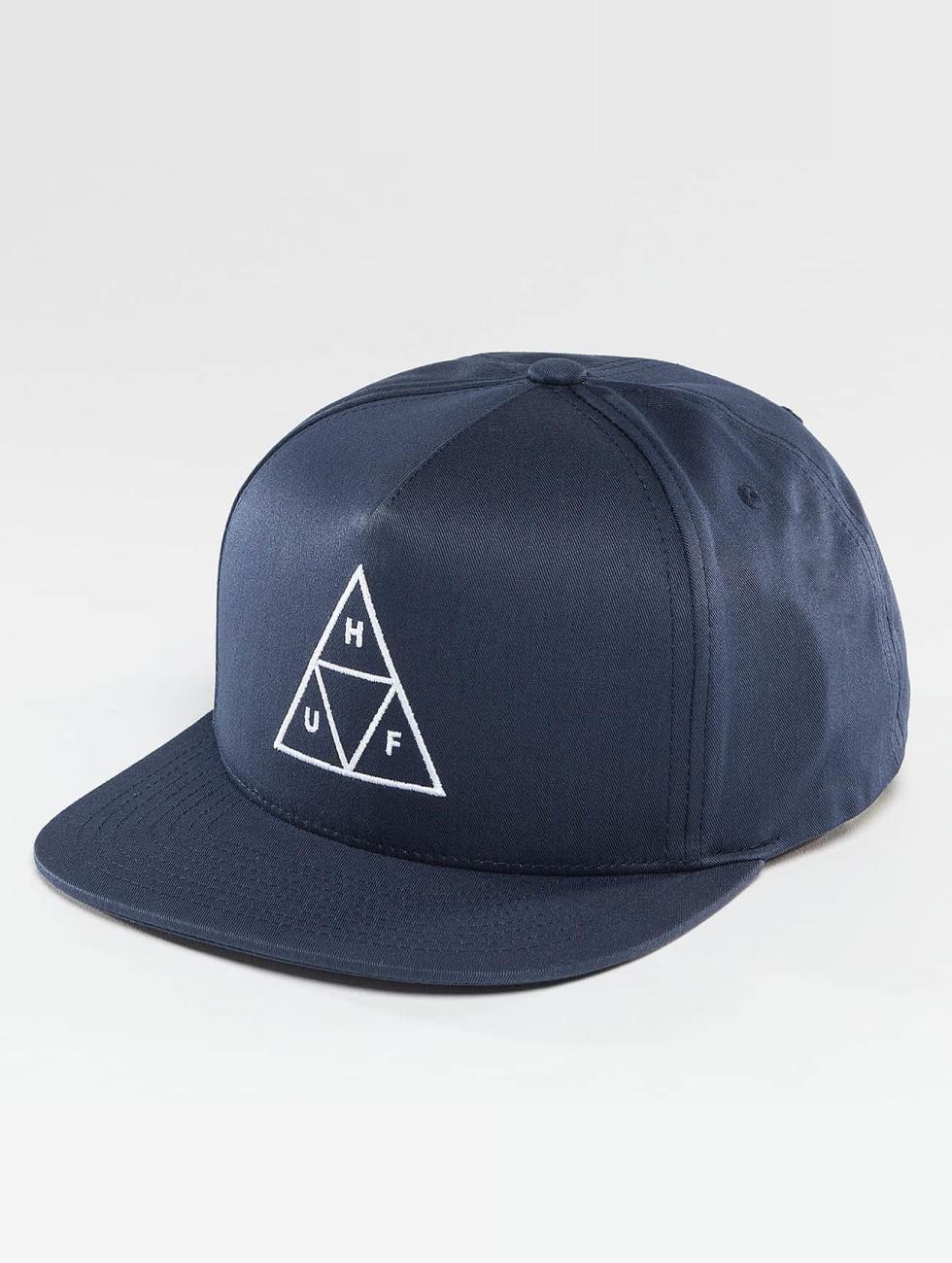HUF Snapback Cap Triple Triangle blue