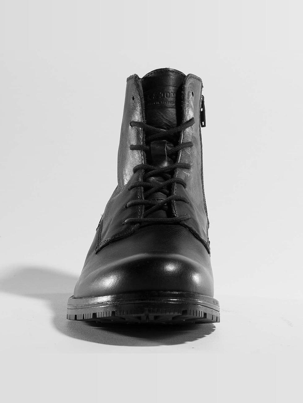 Jack & Jones Scarpa / Stivali In Pelle Nera Jfworca 382.166 RdKGPdcJB