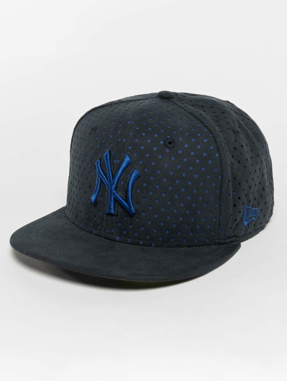 New Era Casquette Fitted Suede Perf NY Yankees 59Fifty bleu