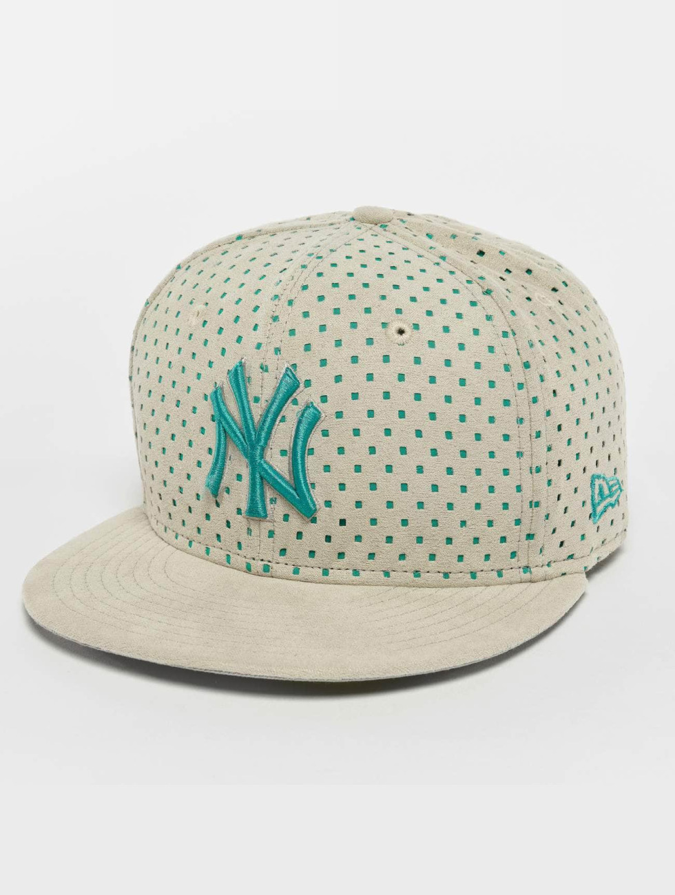 New Era Fitted Cap Suede Perf NY Yankees 59Fifty gray