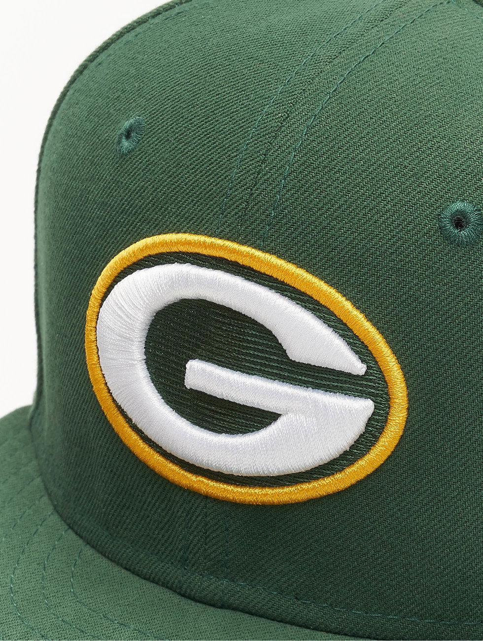 New Era Fitted Cap NFL On Field Green Bay Packers 59Fifty groen