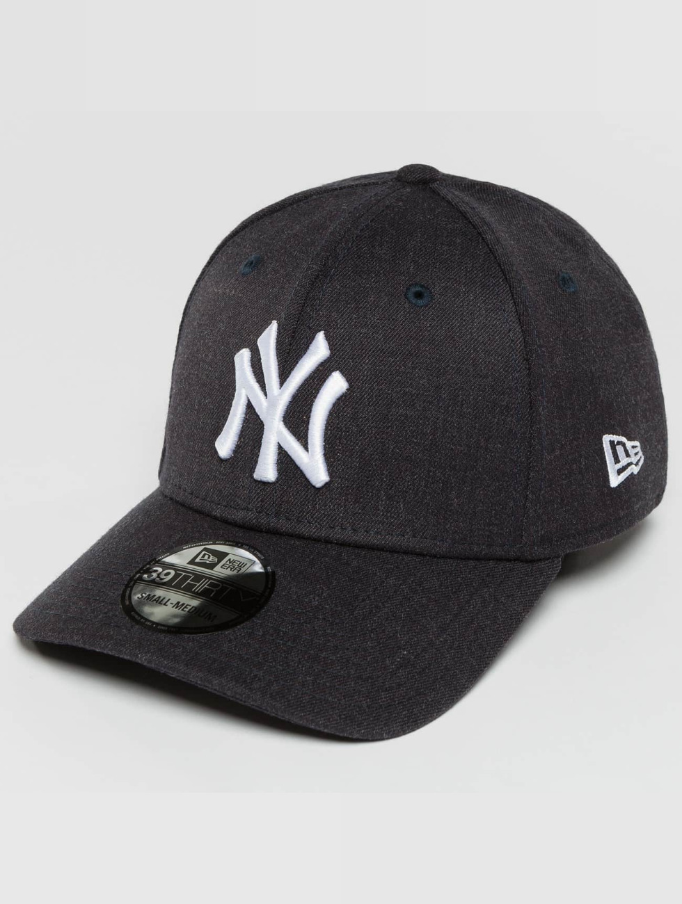 New Era Flexfitted Cap Team Heather NY Yankees niebieski