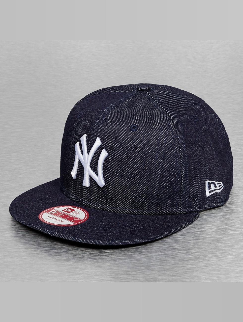 New Era Snapback Cap Denim Basic NY Yankees blau