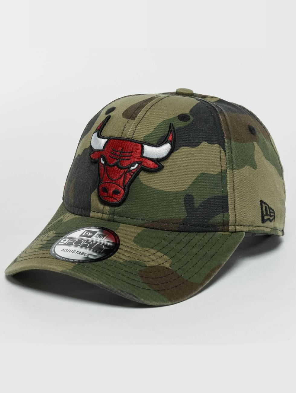 New Era Snapback Cap Washed Camo Chicago Bulls 9Forty mimetico