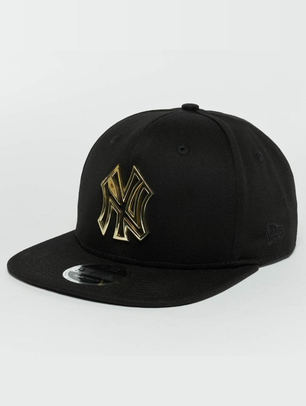 New Era Snapback Caps Metal Badge NY Yankees čern