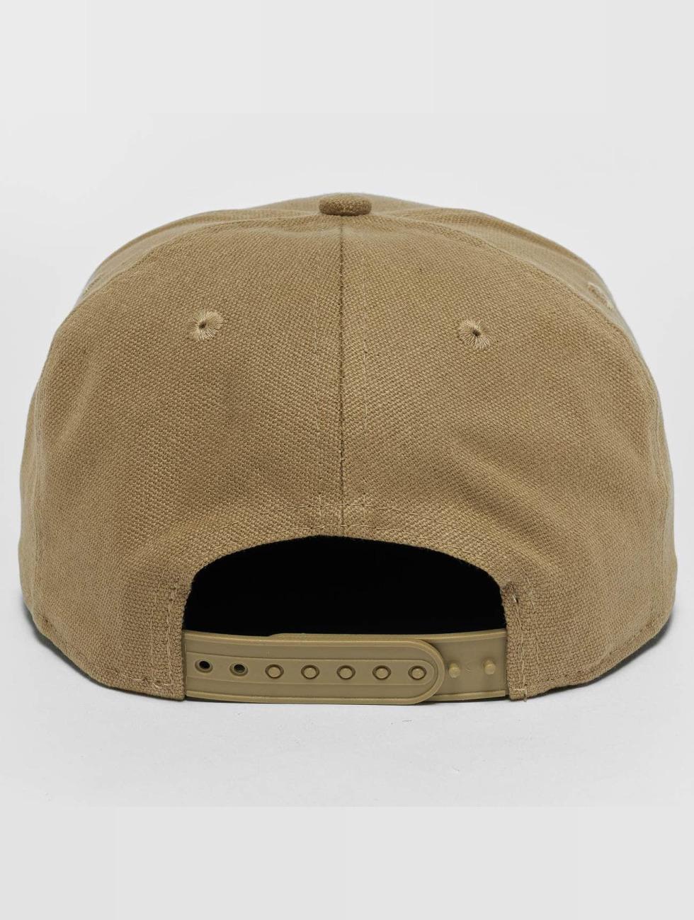 New Era Snapback Caps Canvas NY Yankees 9Fifty béžový