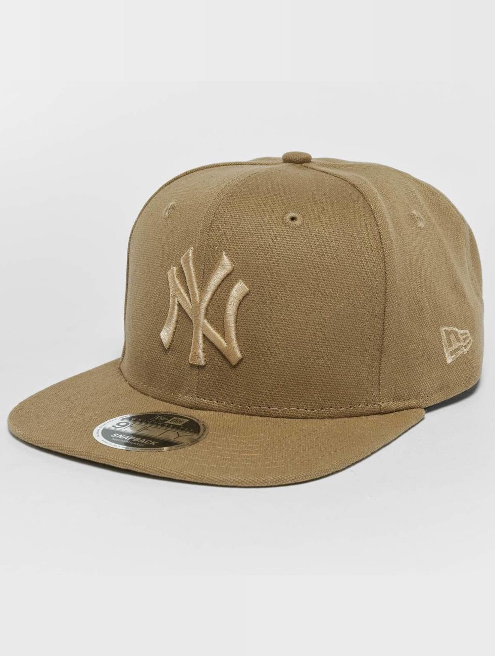 New Era Snapback Caps Canvas NY Yankees 9Fifty beige