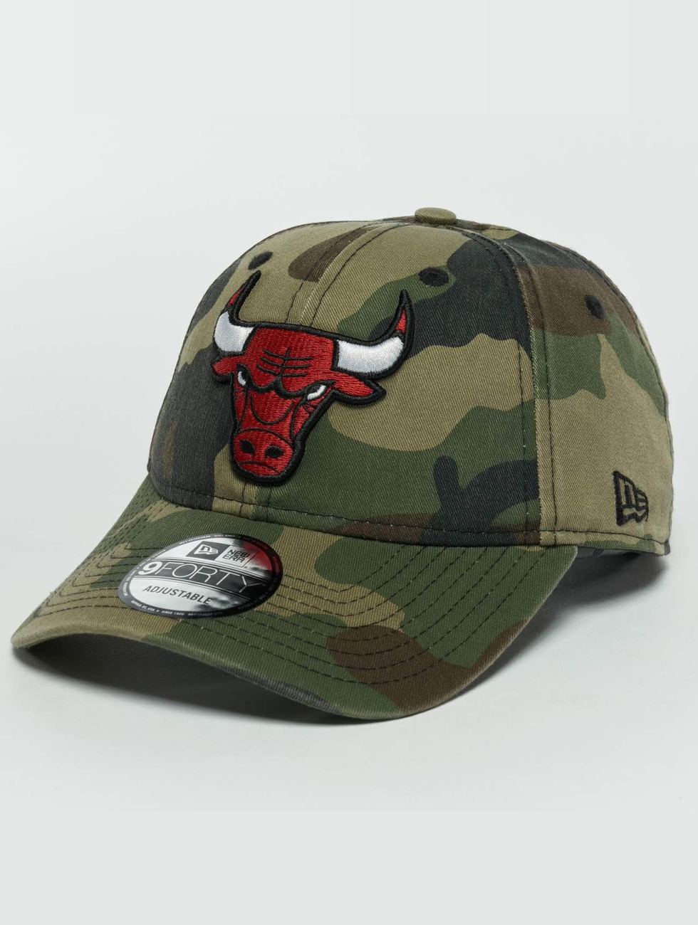 New Era Snapback Caps Washed Camo Chicago Bulls 9Forty kamufláž