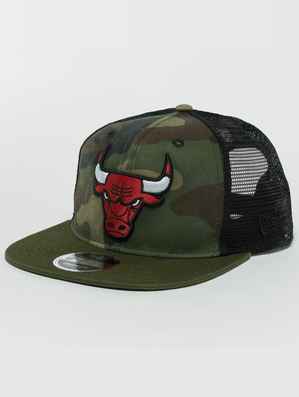 New Era Snapback Caps Washed Camo Chicago Bulls moro