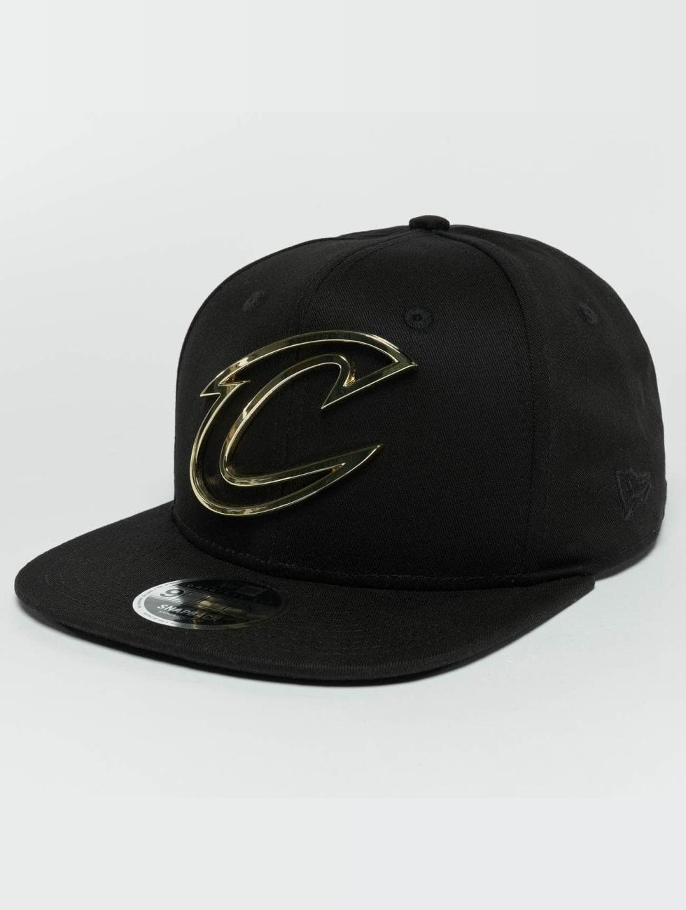 New Era Snapback Caps Metal Badge Cleveland Cavaliers svart