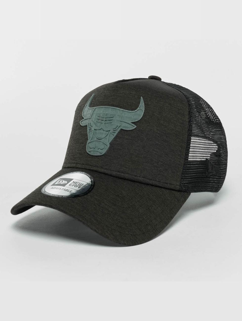 New Era Trucker Cap Concrete Jersey black