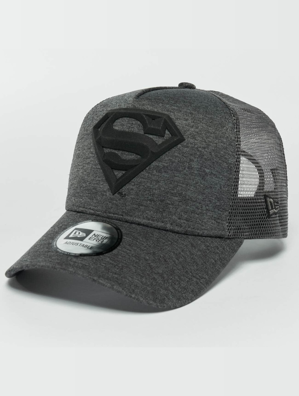 New Era Trucker Caps Concrete Jersey Superman šedá