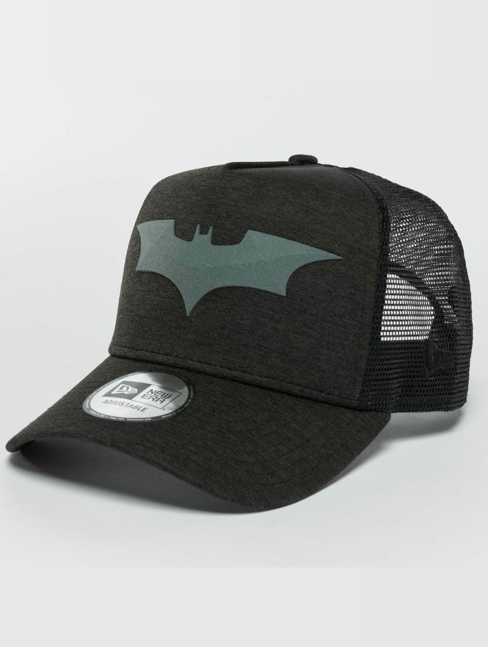 New Era Trucker Caps Concrete Jersey Batman svart